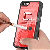 "Newly High Quality ZVE® Multifunctional Cigarette Lighter Cover for iPhone 6/iPhone 6 Plus Built-in Cigarette Lighter/bottle Opener/Camera Stable Tripod/Shockproof Case (Red-iphone6 4.7"")"