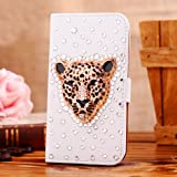 NE3C(TM) Apple 16GB 32G iPod Touch 5th Leather Folio Support Smart Case Cover With Card Holder & Magnetic Flip Horizontal - Britain golden Tiger