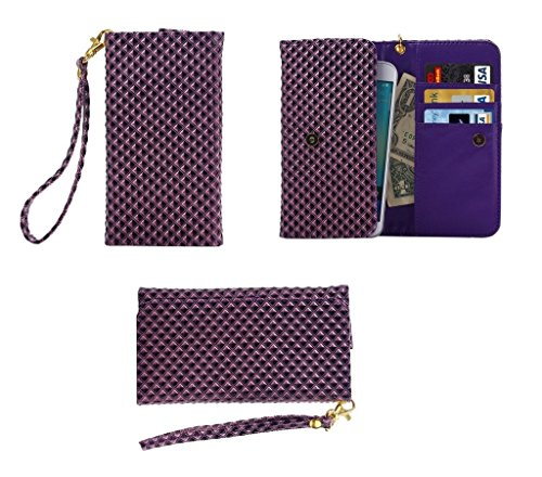 dfv-mobile-cover-premium-case-with-design-pearl-grid-texture-with-card-slots-lanyard-for-starmobile-