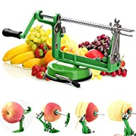 Apple Peeler Masione® Slicer & Corer / Peel, Slice & Core W/ Suction Base for Everyday Kitchen Use…