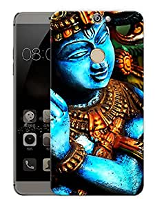 """Krishna Moorti Abstract - Indian Hindu GodPrinted Designer Mobile Back Cover For """"Coolpad Max"""" (3D, Matte, Premium Quality Snap On Case)"""