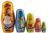 The Simpsons Set Of 5 Wooden Russian Dolls - Collectors Toy