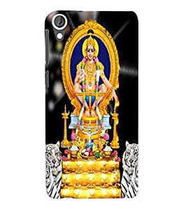 Fuson 3D Printed Lord Ayyappa Designer Back Case Cover for HTC Desire 820 - D517
