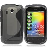 CooltechStuff Grey S Line Series Silicone Gel Rubber Case Cover Skin For HTC Explorer A310e