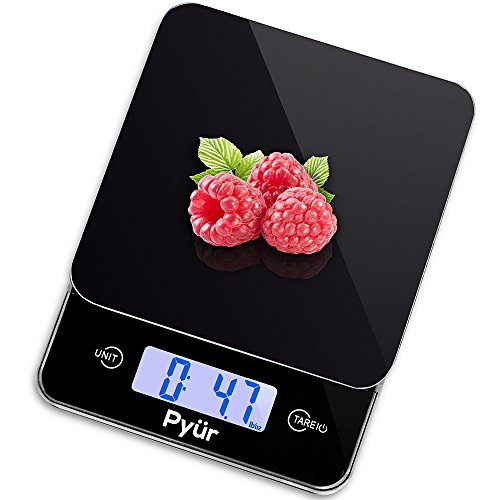 Multifunction Kitchen Digital Food Scale, Accurate up to 11 lbs (5 KG) - LCD Display & Tare, Tempered Glass (Cheap Baking Scale compare prices)