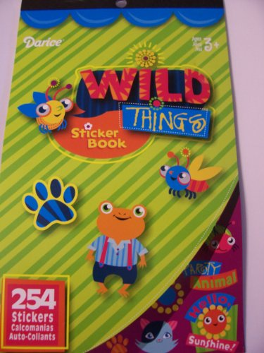 Darice Sticker Book ~ Wild Things (254 Stickers)
