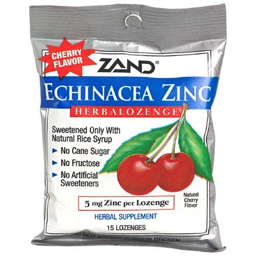 Zand - Herbalozenge Echinacea Zinc Cherry Flavor 5 Mg. - 15 Lozenges