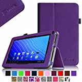 Fintie Double Power M series EM63 7'' Folio Case - Premium PU Leather Stand Cover with Stylus Holder Only Fit 7-inch Double Power DOPO EM63 Tablet - Violet