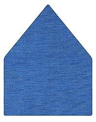 Tiekart Solid Microfibre Pocket Square (Ps320_Blue)