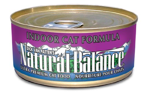Natural Balance Indoor Cat Formula Cat Food (Pack of 24 6-Ounce Cans)
