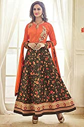 Designer Bhagalpuri Embroidered Semi-stitched Party Wear Anarkali Suit Mastani 65001