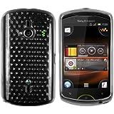 mumbi TPU Skin Case Sony Ericsson Live mit Walkman Silikon Tasche Hülle - Silicon Protector Schutzhülle DIAMANT Effekt