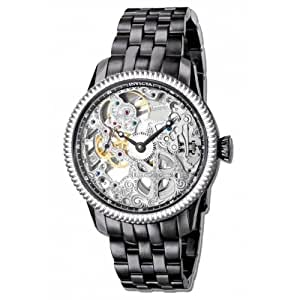 Invicta Specialty Silver Skeletal Dial Gunmetal Ion-plated Mens Watch 80015