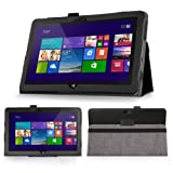 CITUS SlimFit Series Ultra Light Weight Shell Stand Case for Dell Venue 11 Pro Windows Tablet - Black