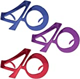 40 Metallic Fanci-Frames [48 Pieces] *** Product Description: 40 Metallic Fanci-Frames. Assorted Blue, Purple, Red. Full Head Size.1 Per Package. Party Eyewear For A 40Th Birthday Party Or Any Other Occasion Featuring The Number 40.All Sales Fina ***