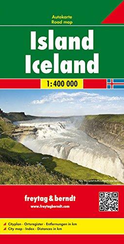 Islandia, mapa de carreteras. Escala 1:400.000. Freytag & Berndt. (Auto karte)