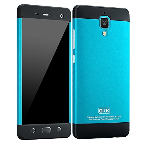 Heartly GKK Double Dip Flip Hard Shell Premium Bumper Back Case Cover For Xiaomi Miui Mi 4 Mi4 - Black Blue Black  available at amazon for Rs.540