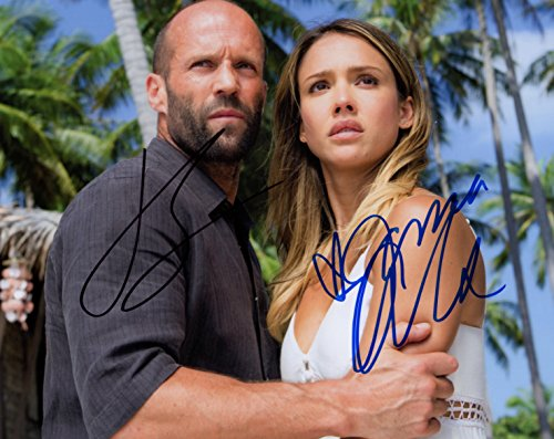 JASON STATHHAM & JESSICA ALBA AUTOGRAPHED PHOTO FROM MECHANIC RESURRECTION (Mechanic Pics compare prices)