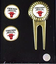 Chicago Bulls NBA Golf Divot Tool &amp; Ball Marker Set