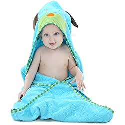IDGIRL Cartoon Animal Style Hooded Baby Towel 0-6 years TOWEL6-SKY