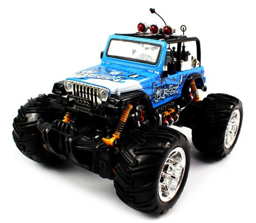 Big Size High Quality Electric Full Function 1:16 GRAFFITI Jeep Wrangler Convertible Monster RTR RC Truck (Colors May Vary)