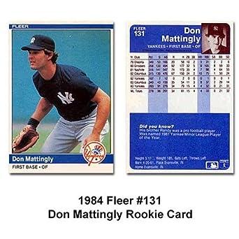 1984 Fleer Don Mattingly Baseball Rookie Card In