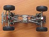 Hobbypower CNCアルミ製 RC SCX-10 1/10 4WDロック クローラーのシャーシフレームキット 組立完了
