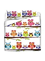 FUNNY BED by MANIFATTURE COTONIERE Juego De Funda Nórdica (Blanco/Multicolor)