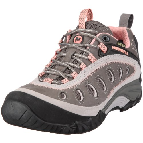 Merrell Women's Chameleon Arc 2 Gore-Tex Dark Gull Gray/Lobster Hiking Shoe J88472 5 UK