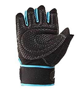 Coromose® 1 Pair Durable Blue Weight Lifting Training Workout Sports Gloves M