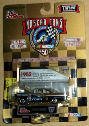 Racing Champions Nascar Fans 50th Anniversary Gold Series 1952 Ford Diecast Toy