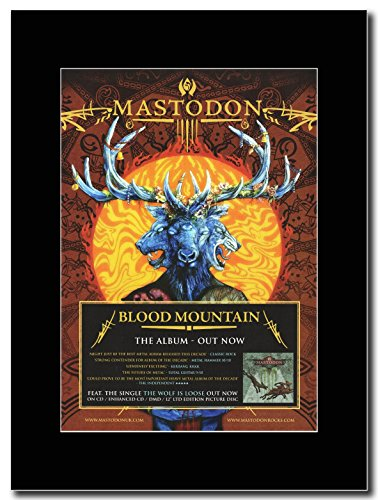 Mastodon, Blood Mountain Magazine Promo su un supporto, colore: nero