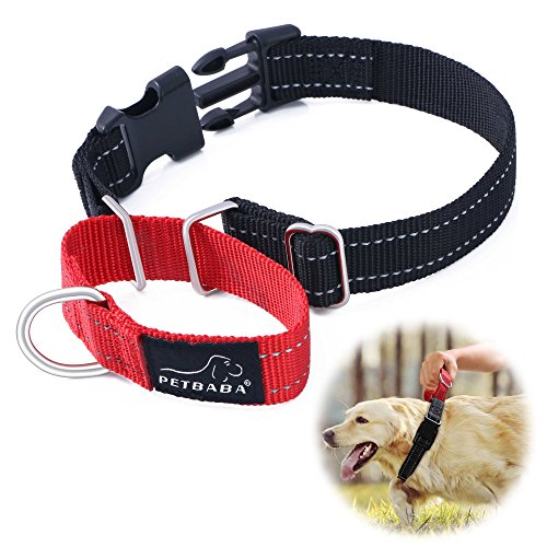 martingale-dog-collar-petbabab-reflective-quick-release-buckle-adjustable-training-collar-for-dogs-m