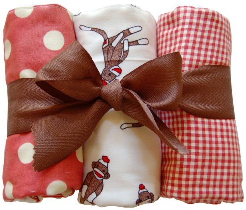 New Arrivals Burp Cloths, Sock Monkey