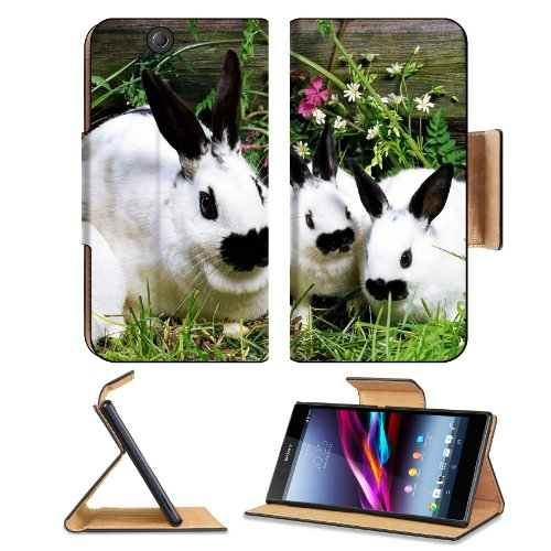 Rabbit Baby Cotton Tail Garden Pets Sony Xperia Z Ultra Flip Case Stand Magnetic Cover Open Ports Customized Made To Order Support Ready Premium Deluxe Pu Leather 7 1/4 Inch (185Mm) X 3 15/16 Inch (100Mm) X 9/16 Inch (14Mm) Liil Sony Xperia Z Ultra Cover front-741081