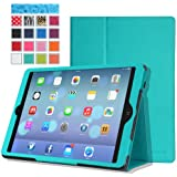 MoKo Apple iPad Air Case - Slim Folding Case for Apple iPad 5 / iPad Air (5th Gen) Tablet, Light BLUE (With Smart Cover Auto Wake / Sleep)
