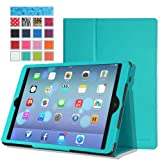 MoKo Apple iPad Air Case - Slim Folding Case for Apple iPad 5 Air (5th Gen) Tablet, Light BLUE (With Smart Cover Auto Wake / Sleep)