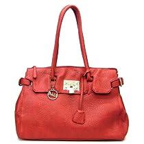 Allofpurses Kate Hill Embossed Golden Lock Red Pockets L Satchel Bag Handbag Purse