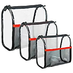 Shany Clear Travel Makeup Bag Cosmetics Organizer Ready Set