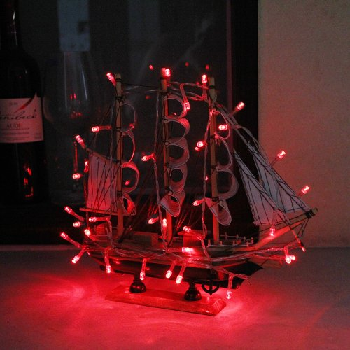 30 Battery Operated Red LED String Lights for Decoration, Indoor/Outdoor, New eBay