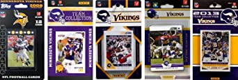 NFL Minnesota Vikings 5 Different Licensed Trading Card Team Sets by C&I Collectables