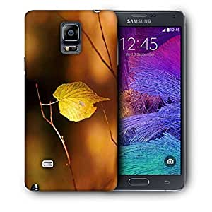 Snoogg Single Leaf In Tree Printed Protective Phone Back Case Cover For Samsung Galaxy NOTE 4 / NOTE IIII