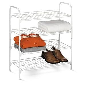Honey-Can-Do 4-Tier Closet Accessory Shelf