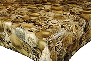 Christmas Baubles Gold Wipe Clean Tablecloth by Karina Home 200cm x 137cm