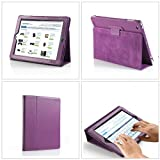 TeckNet� iPad 4 & iPad 3 & iPad 2 Cover / Stand / Case pour Apple iPad iPad 2 & 3 & 4, avec rabat/stand de positionnement, support et le sort de veille - Violet