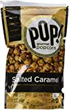 Pop Gourmet Handcrafted Caramel All Natural Popcorn Sprinkled with Sea Salt, 7-oz Bags (Pack of 4)