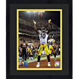 Framed Santonio Holmes Pittsburgh Steelers SB XLIII Autographed 8'' x 10'' Ball in Air... by