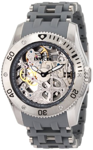 Invicta Men's 1255 Sea Spider Mechanical Skeleton Dial Grey Polyurethane Watch