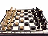 Solid Wood, Chess and Draughts (Checkers) / Large
