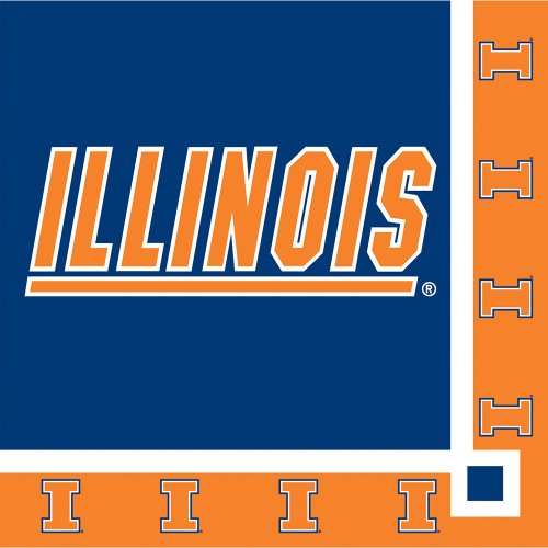 Creative Converting Illinois Fighting Illini Beverage Napkins (20 Count)